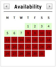Kamaole Sands Availability Calendar