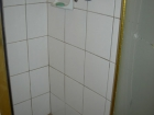 New stall shower and custom etched window